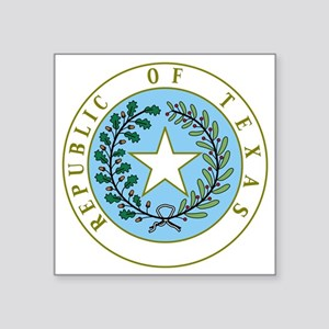 "Great Seal of Texas 1839-18 Square Sticker 3"" x 3"""