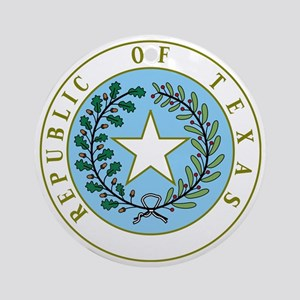 Great Seal of Texas 1839-1845 Round Ornament