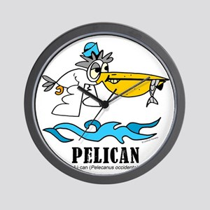 Cartoon Pelican by Lorenzo Wall Clock