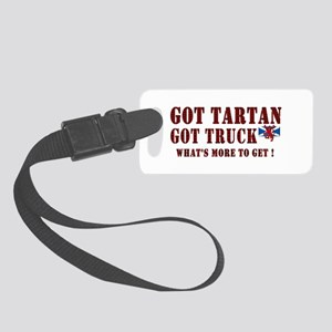 got your red tartan trucker Small Luggage Tag