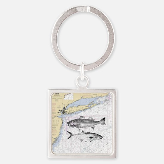 Striped bass Square Keychain