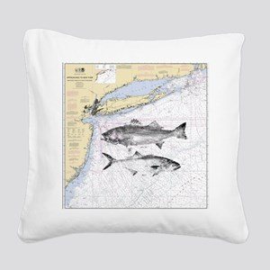 Striped bass Square Canvas Pillow