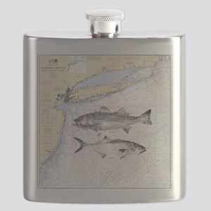 Striped bass Flask