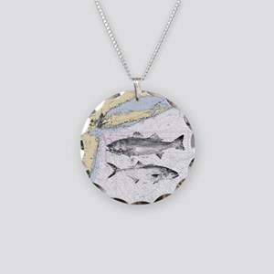 Striped bass Necklace Circle Charm