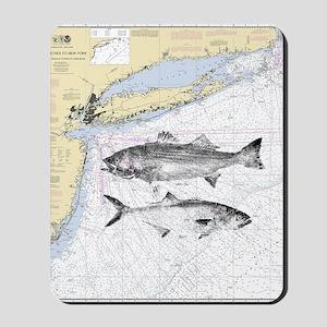 Striped bass Mousepad