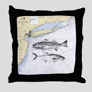 Striped bass Throw Pillow