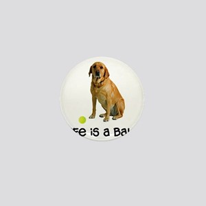 Yellow Lab Life Mini Button