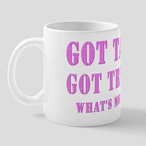 got your pink tartan trucker Mug