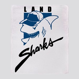 Land Sharks Throw Blanket