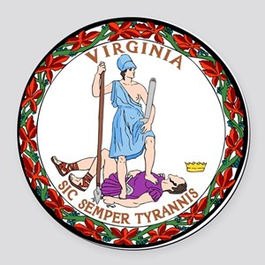 Great Seal of Virginia Round Car Magnet