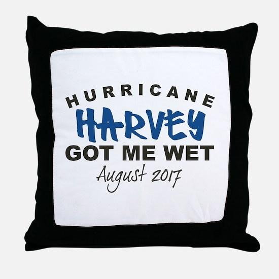 Hurricane Harvey Got Me Wet Throw Pillow