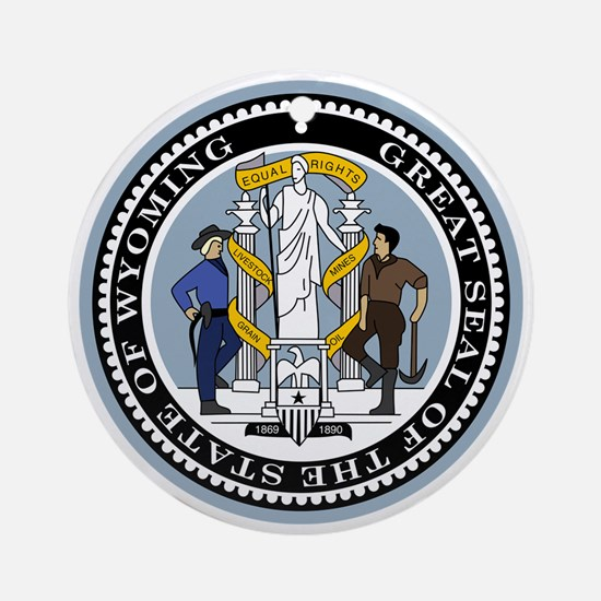 Great Seal of Wyoming Round Ornament