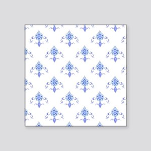 "Periwinkle Fleur Square Sticker 3"" x 3"""