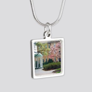 The Old Well Silver Square Necklace