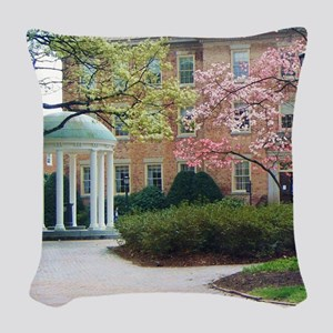 The Old Well Woven Throw Pillow