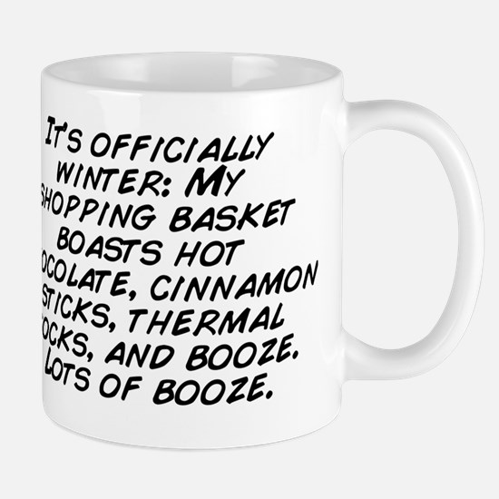 It's officially winter: My shoppin Mug