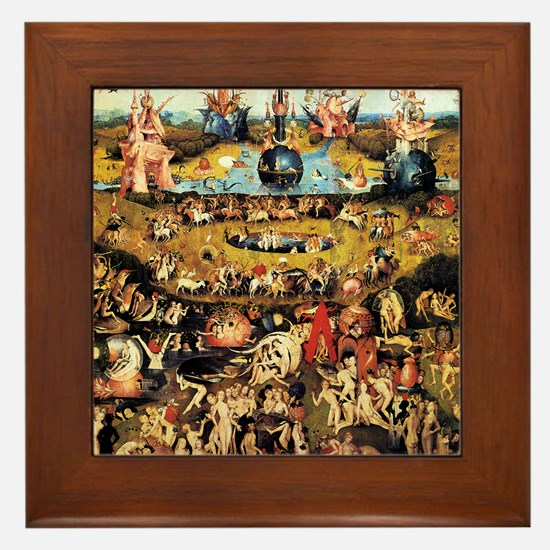 Hieronymus Bosch Garden Of Earthly Del Framed Tile