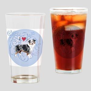 mini amer-charm2 Drinking Glass