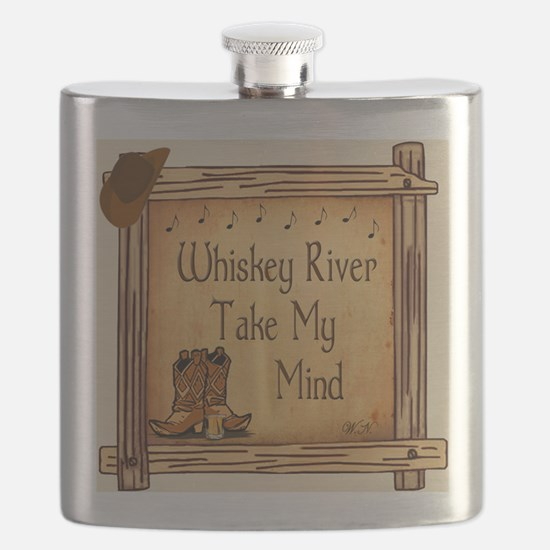 Country Music Coaster Flask