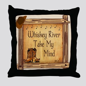 Country Music Coaster Throw Pillow
