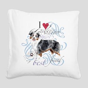 mini amer T1 Square Canvas Pillow