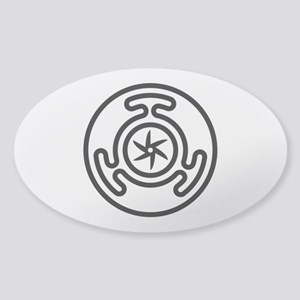 Hecate's Wheel Sticker (Oval)