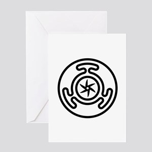 Hecate's Wheel Greeting Card