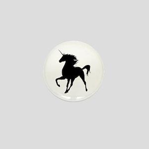 Unicorn Silhouette Mini Button