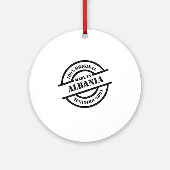 Made in Albania Round Ornament
