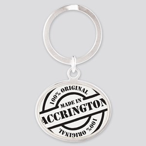 Made in Accrington Oval Keychain