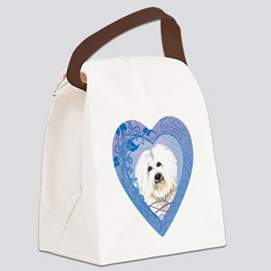 coton-heart Canvas Lunch Bag