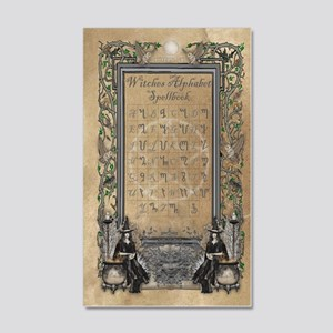 Witches Alphabet Spellbook Journa 20x12 Wall Decal