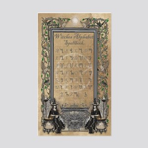 Witches Alphabet Spellbook Jou Sticker (Rectangle)