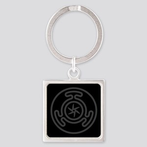 Hecate's Wheel Square Keychain
