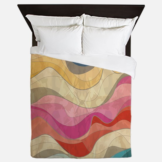 Cute Wavy Pattern Queen Duvet