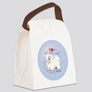 coton-round Canvas Lunch Bag