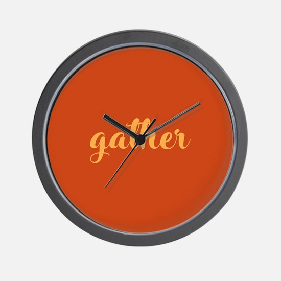 Gather Wall Clock