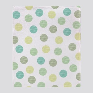 Scribble Dots Throw Blanket