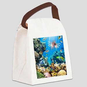 Sea Life Canvas Lunch Bag