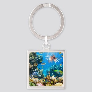 Sea Life Square Keychain