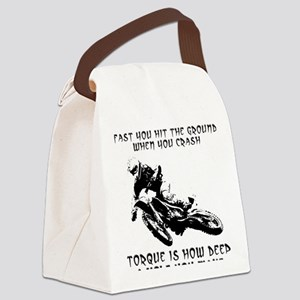 Horsepower versus vs. Torque Dirt Canvas Lunch Bag