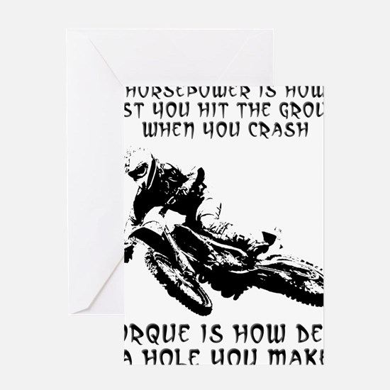 Horsepower versus vs. Torque Dirt Bi Greeting Card