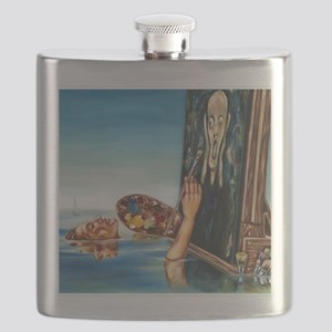 Still Painting post card Flask
