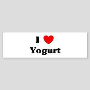I love Yogurt Bumper Sticker