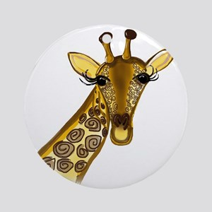 Giraffe - ZooWhirlz  Round Ornament