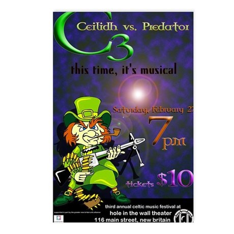 Ceilidh III poster graphi Postcards (Package of 8)