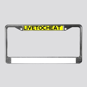 Livetocheat License Plate Frame