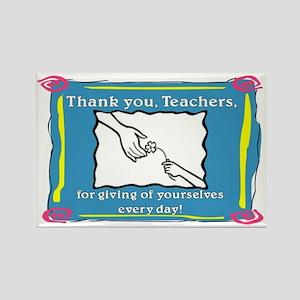 Thank you Teachers Rectangle Magnet
