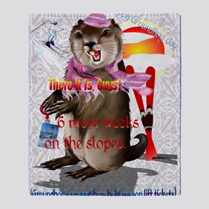 GREETING CARDS Groundhog Day-6 more  Throw Blanket