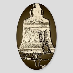 Philadelphia Liberty Bell Sticker (Oval)